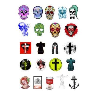 Набор мини стикеров Skull