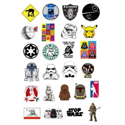 Набор мини стикеров Star Wars