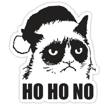 1342 Anti Christmas - Grumpy Cat HO HO NO!