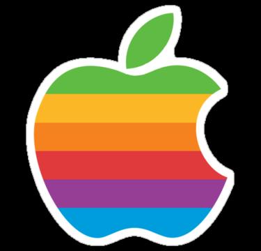 1366 Apple logo - Rainbow