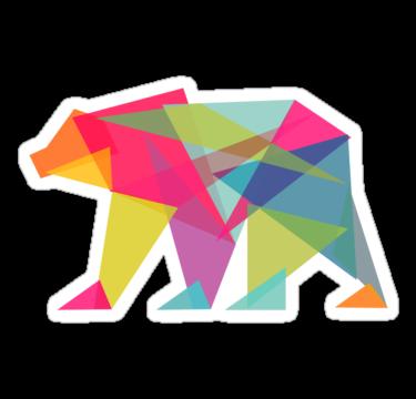 1501 Fractal Bear - neon colorways