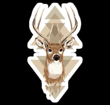 1518 Geometric Deer
