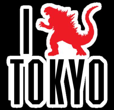 1547 I Love Tokyo (Godzilla)
