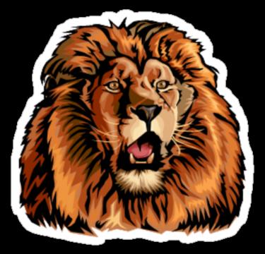 1593 Lion face