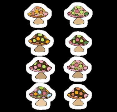 1640 Mushroom Sticker Sheet