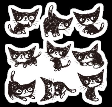 1647 Nine poses of kitten