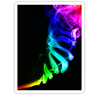 1697 Rainbow smoke