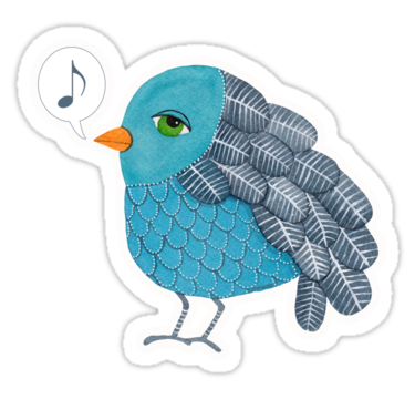 1734 Slightly Depressed Blue Bird Singin' the Blues