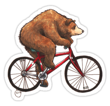 1862 Bear on a Bike