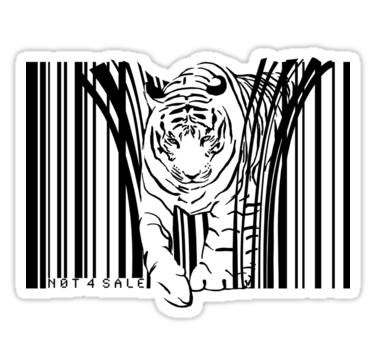 1915 endangered TIGER BARCODE