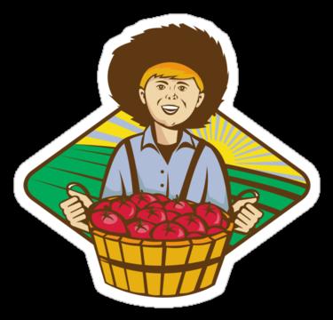 1923 Farmer Boy Straw Hat Tomato Harvest