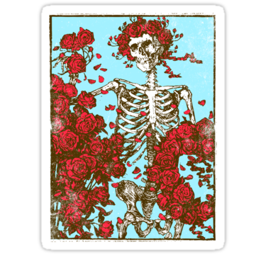 1929 Flowers And A Skeleton
