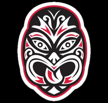 1990 maori tiki moko tattoo mask