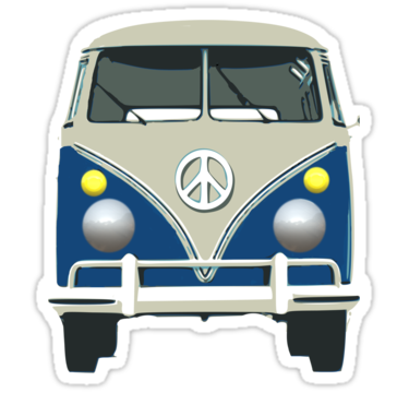 2028 retro blue van of peace