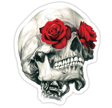 2033 Rose Eye Skull