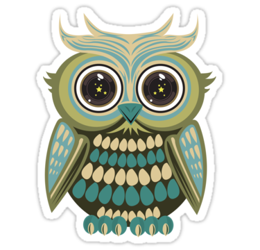 2058 Star Eye Owl - Green