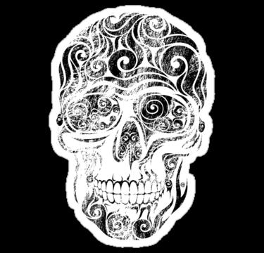 2069 Swirly Skull