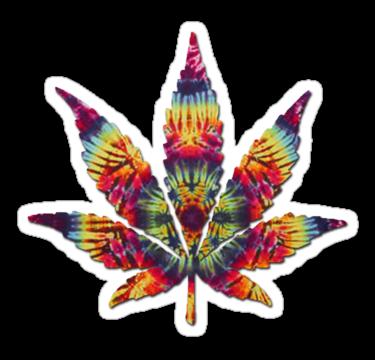 2087 Tie Dye Pot Leaf