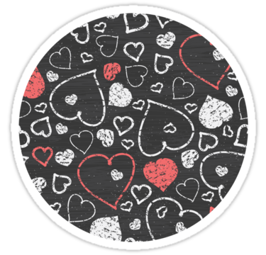 2135 Chalk hearts
