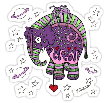 2174 Interstellar Elephant Tee