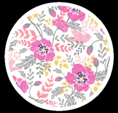 2208 Pastel pink poppies