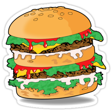 2308 Cartoon Hamburger