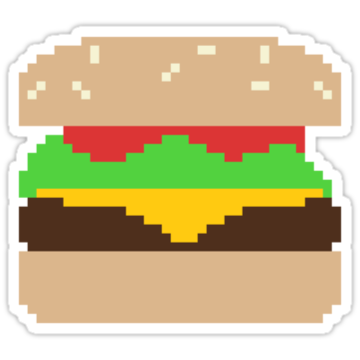 2337 Pixel Hamburger