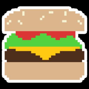 2337 Pixel Hamburger