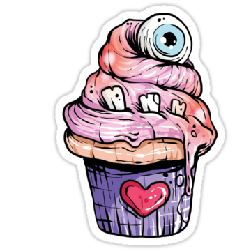 2376 Eyeball Cupcake