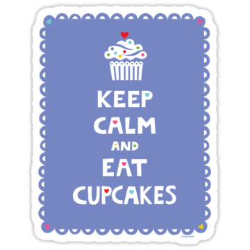 2382 Keep Calm and Eat Cupcakes