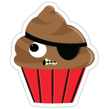 2388 Pirate Cupcake