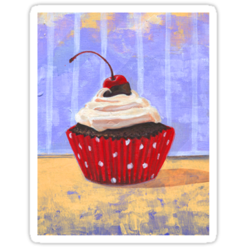 2393 Red Cherry Cupcake