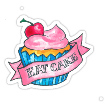 2394 Retro Eat Cake Tattoo Design