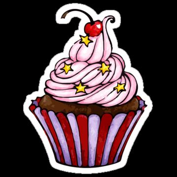 2398 Star + Cherry Cupcake