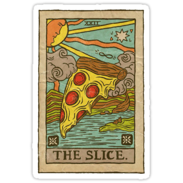 2444 Slice Pizza Tarot Card