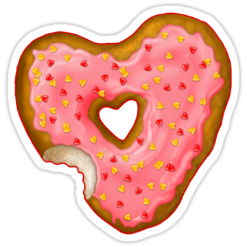 2466 Donut Heart With Sprinkles