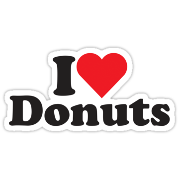 2477 I Heart Love Donuts
