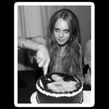 2515 Lindsay Lohan Cake