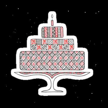 2521 Patterned Cake