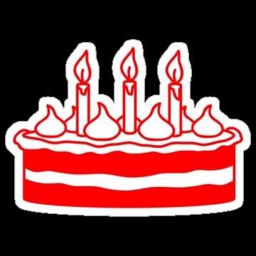 2525 Red&White Birthday Cake