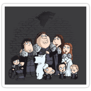 2615 Family Guy in Stark game of thrones