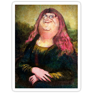 2625 peter griffin as mona lisa