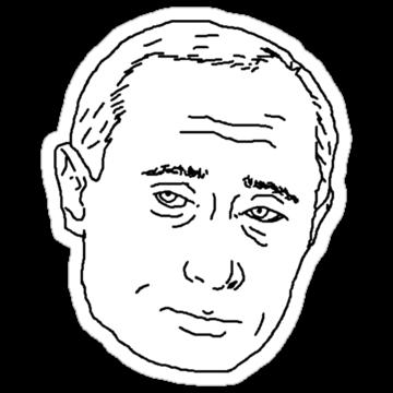 5017 Putin line drawing