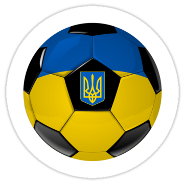 5026 Ukraine - Ukrainian Flag - Football or Soccer