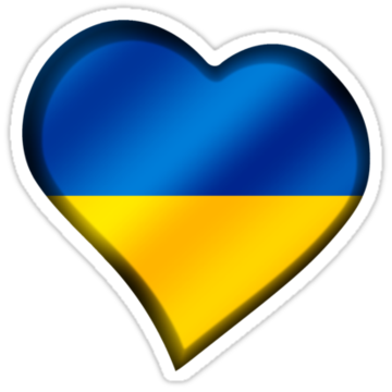 5046 Ukrainian Flag - Ukraine - Heart