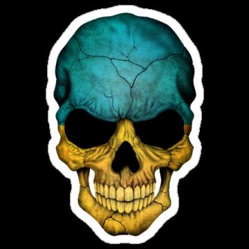 5049 Ukrainian Flag Skull