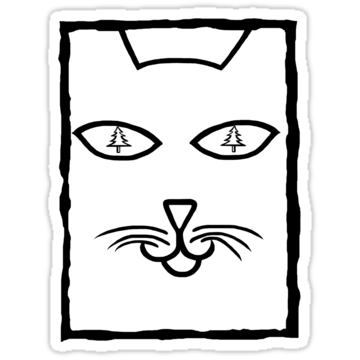 2849 Christmas Cat Eyes