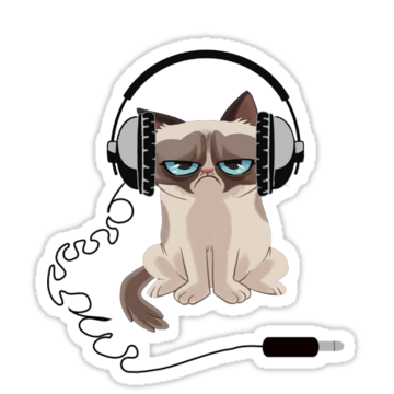 2859 Grumpy Cat Headphones