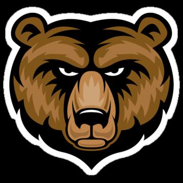 2891 Bear Mascot Head