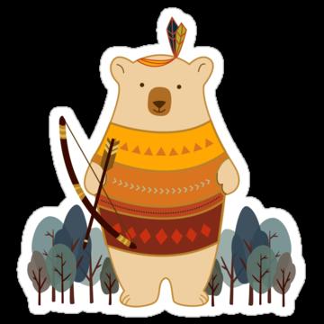 2898 Brave Indian Bear